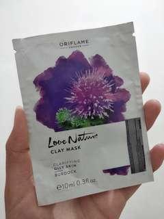 Love Nature Clay Mask Clarifying Oily Skin Burdock