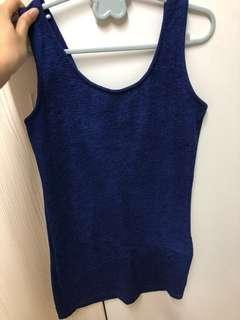 🚚 寶藍色貼身洋裝