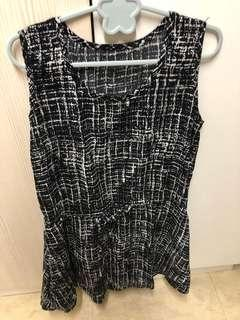 🚚 黑白紋路洋裝