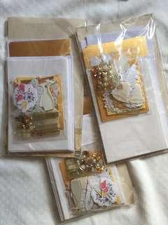 Take all DIY 3D wedding invitation gold