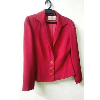 Red Blazer By Needle And Thread