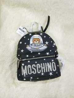 全新 MosChino經典時尚小熊飛碟後背包