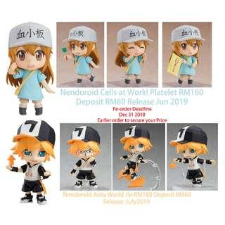 Nendoroid Cells at Work! Platelet RM160 /Aotu World Jin