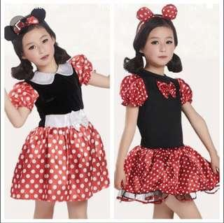 Brand New Minnie Mouse White Dress with Polka Dots