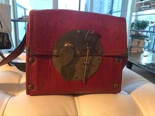 NEW Persian Leather bag Red