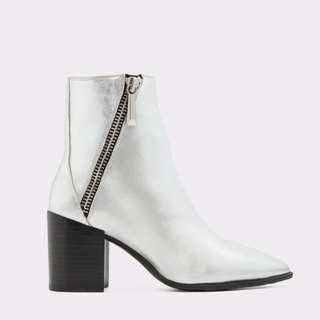 ALDO Mendani Silver Boots - Size Womens 9