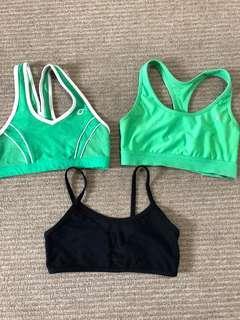 Lorna Jane, champion and Rockwear Sports bras