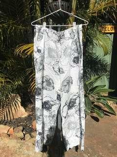 Floral high waisted pants