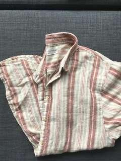 Short sleeve striped community veritas shirt