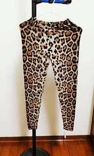 🚚 (自出價) 性感豹紋彈性褲子 休閒褲 便宜賣 #十一月女裝半價