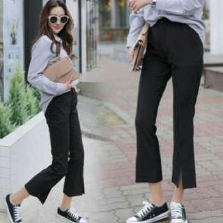 🚚 (自出價) 開衩彈性喇叭褲 便宜賣 #十一月女裝半價