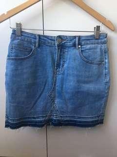 Seed Blue Denim Skirt Size 10
