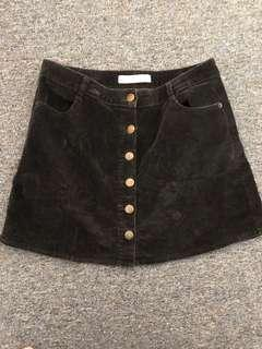 Swell Cord button up skirt