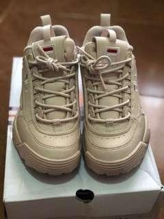 Authentic Fila Disruptor 2 pale pink