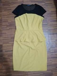 Yellow Peplum Dress