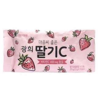 預購 賣完收單 韓國草莓維他命VC粉2G*10
