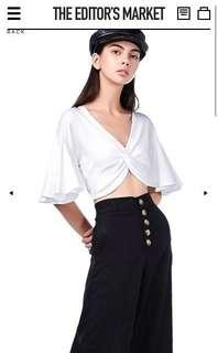 TEM ESSEL KNOTTED CROP TOP
