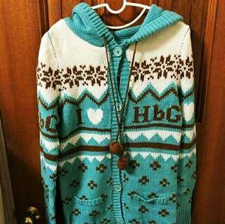 🚚 (自出價) 翡翠綠 雪花 梅花針織外套 我很好商量😉 便宜賣 #十一月女裝半價