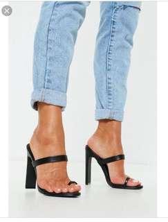 Black mules heels