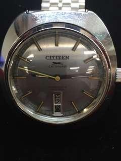 出售70's日製CITIZEN 星晨LEOPARD 星期、日曆丶高頻不鏽鋼自動錶