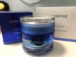 🈹(限時激平再送5件裝sample set)全新Laneige Perfect Renew Cream 50ml 水活細胞再生面霜