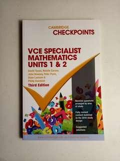 Specialist Maths Checkpoints 1/2