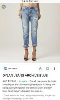 Lee Dylan boyfriend jeans size 6