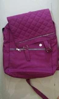 Purple bagpack