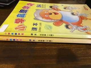 P5 higher Chinese text books 5a and b