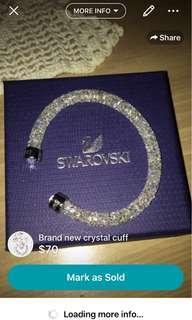 Crystal cuff bracelet authentic