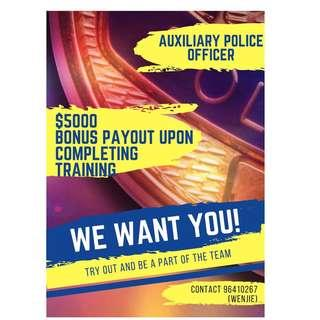 Auxiliary Police Officer (No Exp Required)