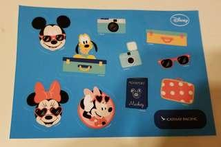 Cathay Pacific x Mickey貼紙