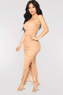 Fashion Nova Slit Dress