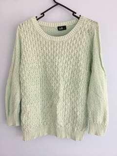 Mint green oversized sweater