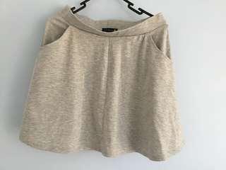 Cotton on grey skater skirt