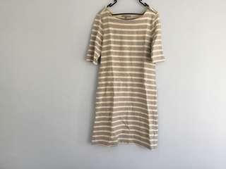 Gap grey striped dress