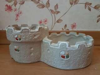 Castle Clay Pot Planter