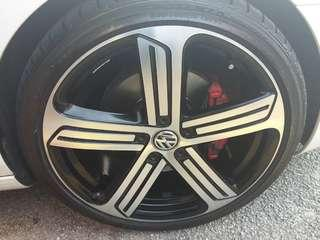 VW Golf R Original 19 Cadiz Rims for Sale