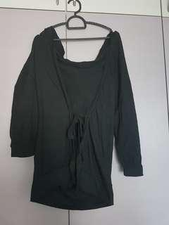 Black outerwear with hoodie