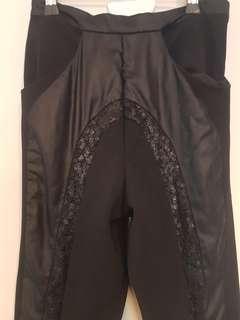 Sequin detail pants
