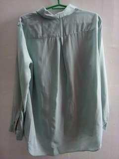 Uniqlo Women Rayon Long Sleeve Blouse