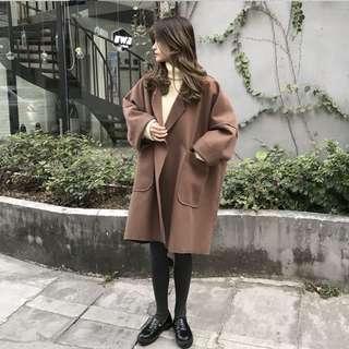 🚚 棕色寬版大衣🧥🏾