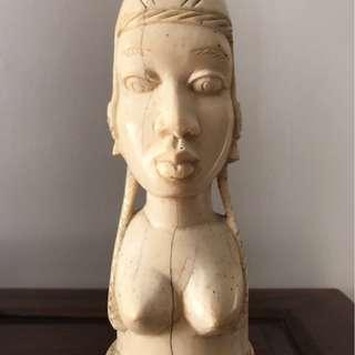 """Moving sales - Vintage Ivory Carving Statue """"La Belle"""" from South Africa"""