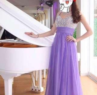 婚後物資 紫色閃石晚裝 婚紗 姊姊裙 Pre Wedding