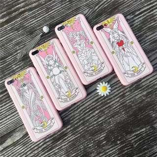 [po] iphone 6/6s/7/8/plus/x card captor sakura cover/case