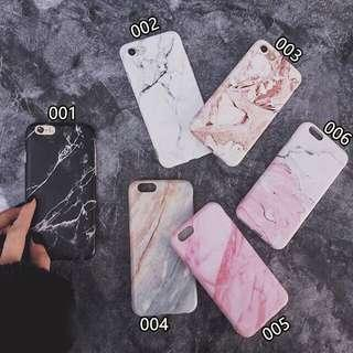 [po] iphone 6/7/plus/x marble case/cover