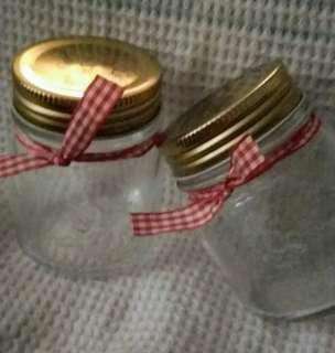 Mini glass canning jars