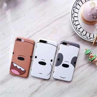 [po] we bare bears iphone 6/6s/7/8/plus/x cover