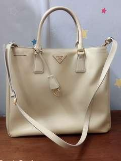 Authentic prada leather bag,95%new, with dust bag,good conditions  as pic,size 35*30*15cm