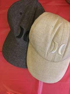 2 Hurley hats